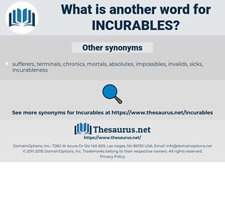 incurables, synonym incurables, another word for incurables, words like incurables, thesaurus incurables