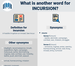incursion, synonym incursion, another word for incursion, words like incursion, thesaurus incursion