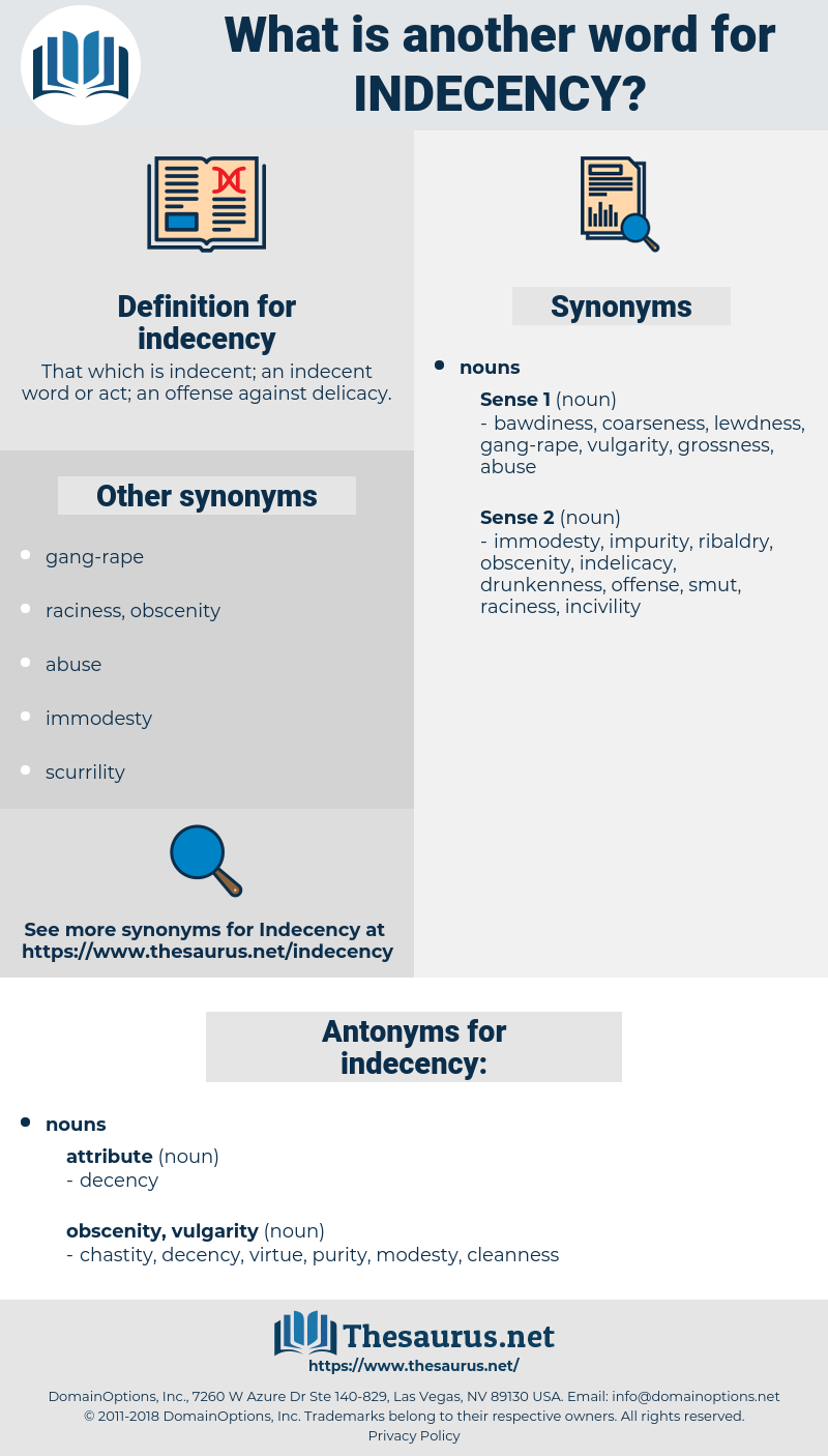 indecency, synonym indecency, another word for indecency, words like indecency, thesaurus indecency