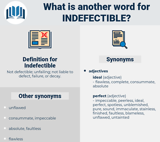 Indefectible, synonym Indefectible, another word for Indefectible, words like Indefectible, thesaurus Indefectible