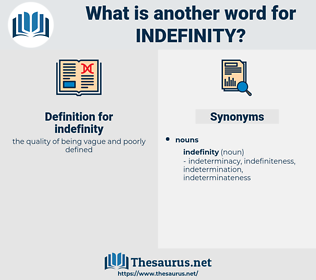 indefinity, synonym indefinity, another word for indefinity, words like indefinity, thesaurus indefinity