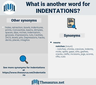 indentations, synonym indentations, another word for indentations, words like indentations, thesaurus indentations