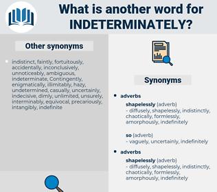 indeterminately, synonym indeterminately, another word for indeterminately, words like indeterminately, thesaurus indeterminately