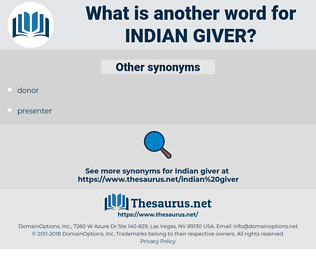 Indian Giver, synonym Indian Giver, another word for Indian Giver, words like Indian Giver, thesaurus Indian Giver