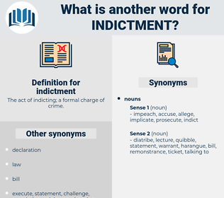 indictment, synonym indictment, another word for indictment, words like indictment, thesaurus indictment