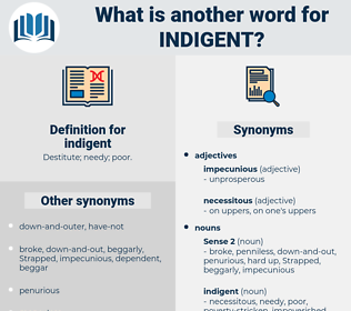 indigent, synonym indigent, another word for indigent, words like indigent, thesaurus indigent