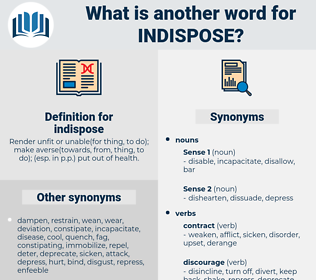 indispose, synonym indispose, another word for indispose, words like indispose, thesaurus indispose