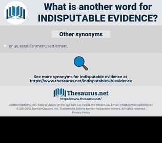 indisputable evidence, synonym indisputable evidence, another word for indisputable evidence, words like indisputable evidence, thesaurus indisputable evidence