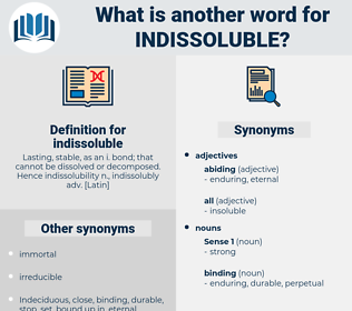 indissoluble, synonym indissoluble, another word for indissoluble, words like indissoluble, thesaurus indissoluble