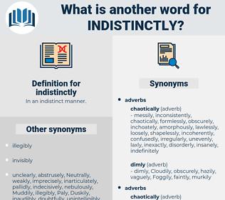 indistinctly, synonym indistinctly, another word for indistinctly, words like indistinctly, thesaurus indistinctly