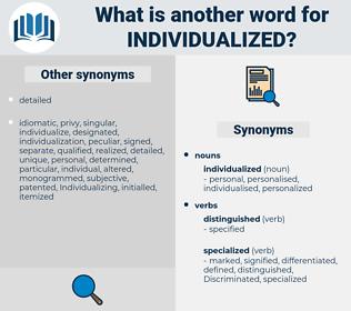 individualized, synonym individualized, another word for individualized, words like individualized, thesaurus individualized