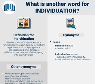 individuation, synonym individuation, another word for individuation, words like individuation, thesaurus individuation