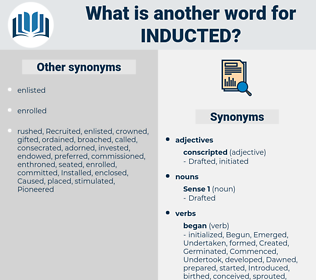 Inducted, synonym Inducted, another word for Inducted, words like Inducted, thesaurus Inducted