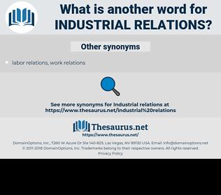 industrial relations, synonym industrial relations, another word for industrial relations, words like industrial relations, thesaurus industrial relations