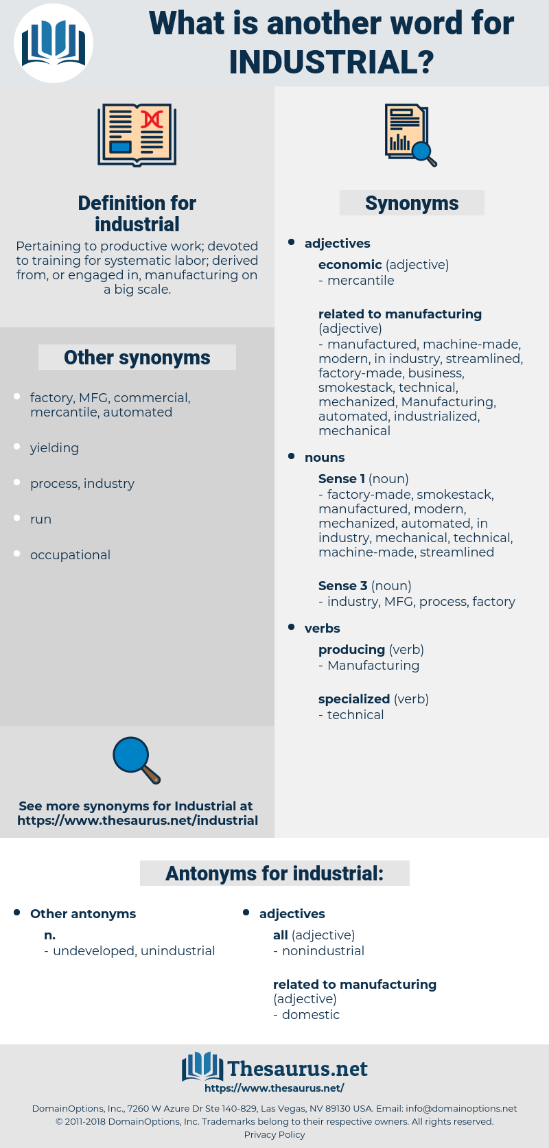 industrial, synonym industrial, another word for industrial, words like industrial, thesaurus industrial