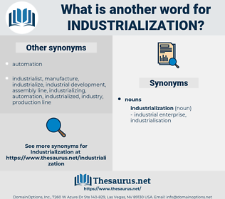 industrialization, synonym industrialization, another word for industrialization, words like industrialization, thesaurus industrialization