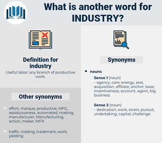 industry, synonym industry, another word for industry, words like industry, thesaurus industry