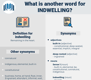 indwelling, synonym indwelling, another word for indwelling, words like indwelling, thesaurus indwelling