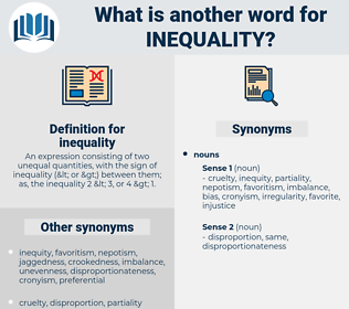 inequality, synonym inequality, another word for inequality, words like inequality, thesaurus inequality