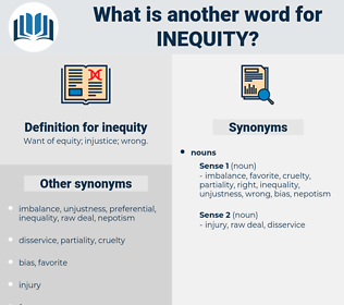 inequity, synonym inequity, another word for inequity, words like inequity, thesaurus inequity
