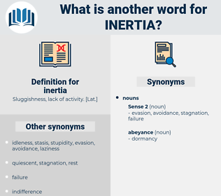 inertia, synonym inertia, another word for inertia, words like inertia, thesaurus inertia