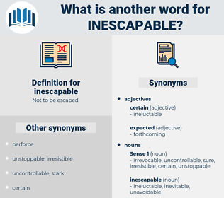 inescapable, synonym inescapable, another word for inescapable, words like inescapable, thesaurus inescapable