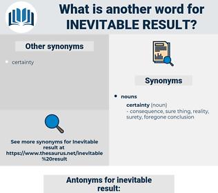 inevitable result, synonym inevitable result, another word for inevitable result, words like inevitable result, thesaurus inevitable result