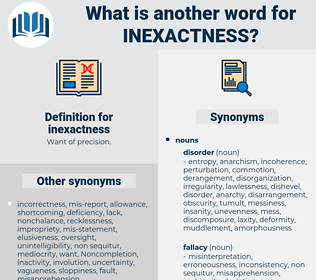 inexactness, synonym inexactness, another word for inexactness, words like inexactness, thesaurus inexactness