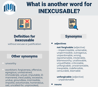 inexcusable, synonym inexcusable, another word for inexcusable, words like inexcusable, thesaurus inexcusable