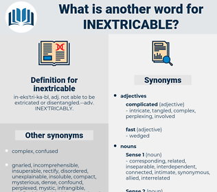 inextricable, synonym inextricable, another word for inextricable, words like inextricable, thesaurus inextricable
