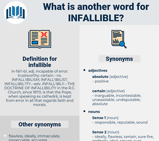 infallible, synonym infallible, another word for infallible, words like infallible, thesaurus infallible
