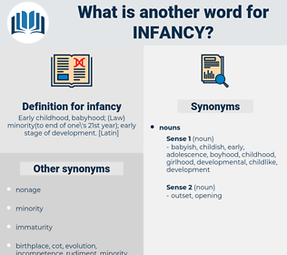infancy, synonym infancy, another word for infancy, words like infancy, thesaurus infancy