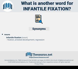 infantile fixation, synonym infantile fixation, another word for infantile fixation, words like infantile fixation, thesaurus infantile fixation