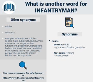 infantryman, synonym infantryman, another word for infantryman, words like infantryman, thesaurus infantryman