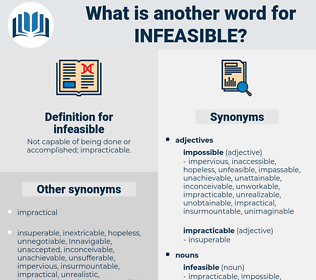 infeasible, synonym infeasible, another word for infeasible, words like infeasible, thesaurus infeasible