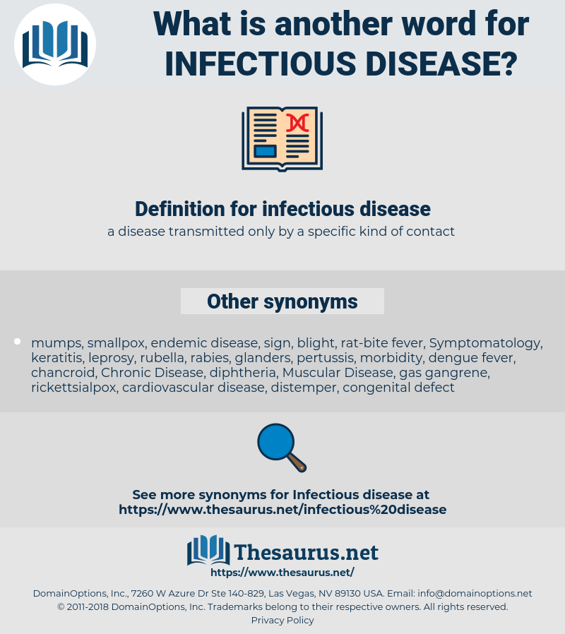 infectious disease, synonym infectious disease, another word for infectious disease, words like infectious disease, thesaurus infectious disease