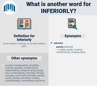Inferiorly, synonym Inferiorly, another word for Inferiorly, words like Inferiorly, thesaurus Inferiorly