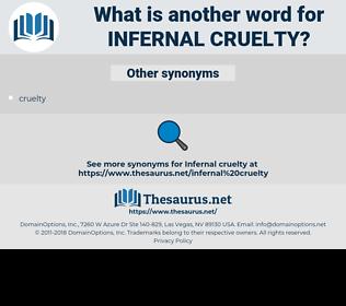 infernal cruelty, synonym infernal cruelty, another word for infernal cruelty, words like infernal cruelty, thesaurus infernal cruelty