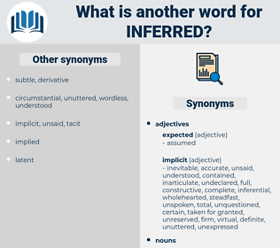 Inferred, synonym Inferred, another word for Inferred, words like Inferred, thesaurus Inferred