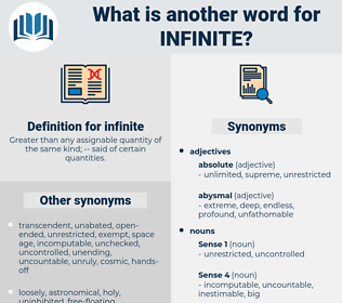 infinite, synonym infinite, another word for infinite, words like infinite, thesaurus infinite