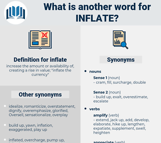 inflate, synonym inflate, another word for inflate, words like inflate, thesaurus inflate