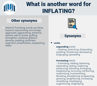 Inflating, synonym Inflating, another word for Inflating, words like Inflating, thesaurus Inflating