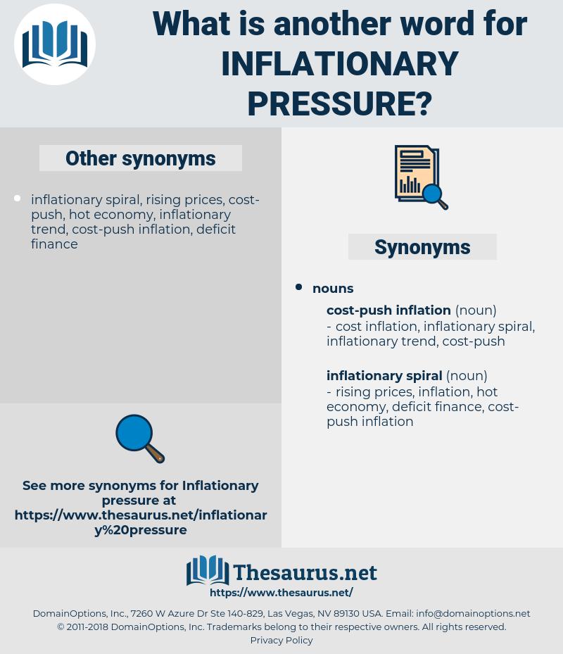 inflationary pressure, synonym inflationary pressure, another word for inflationary pressure, words like inflationary pressure, thesaurus inflationary pressure