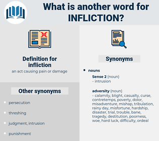infliction, synonym infliction, another word for infliction, words like infliction, thesaurus infliction
