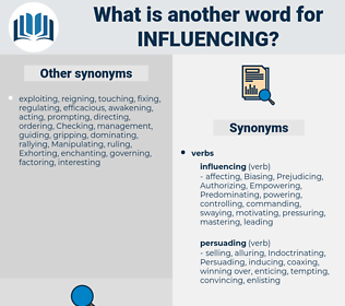 Influencing, synonym Influencing, another word for Influencing, words like Influencing, thesaurus Influencing