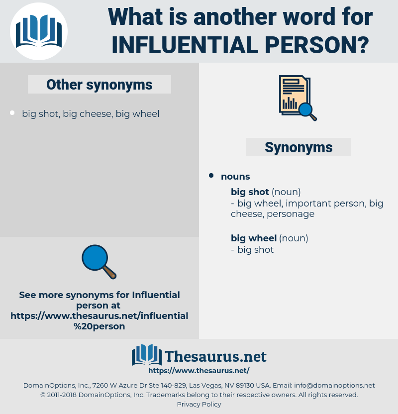 influential person, synonym influential person, another word for influential person, words like influential person, thesaurus influential person