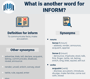 inform, synonym inform, another word for inform, words like inform, thesaurus inform