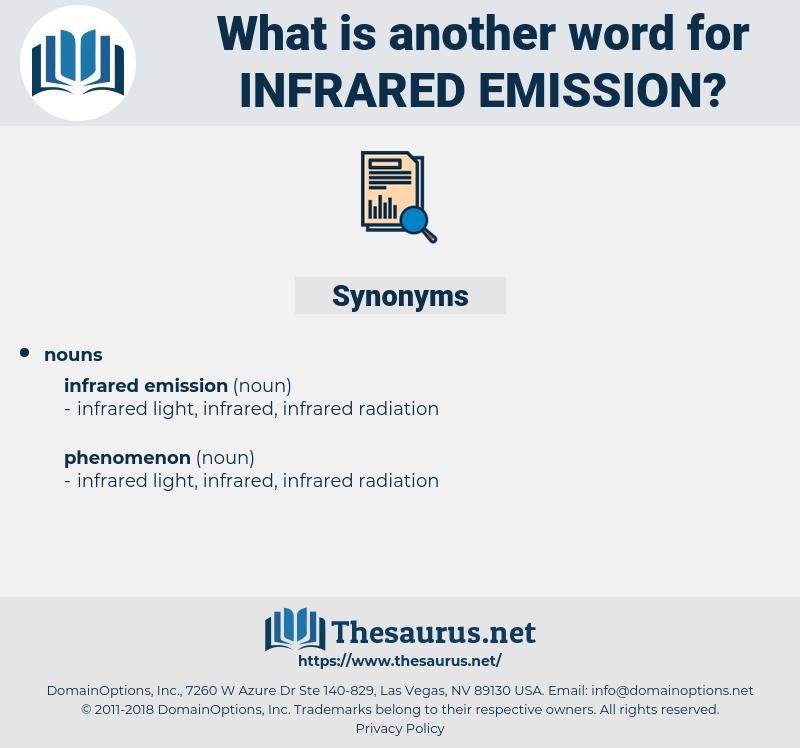 infrared emission, synonym infrared emission, another word for infrared emission, words like infrared emission, thesaurus infrared emission