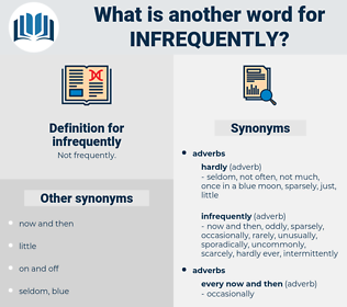 infrequently, synonym infrequently, another word for infrequently, words like infrequently, thesaurus infrequently