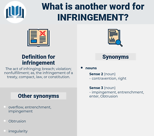 infringement, synonym infringement, another word for infringement, words like infringement, thesaurus infringement